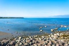 Sikter av golfen av Finland på en solig dag Arkivbild