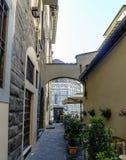 Sikter av grannskapar, gator och kyrkor av Florence Royaltyfri Fotografi
