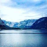 Sikter av Hallstatt Österrike Royaltyfri Foto