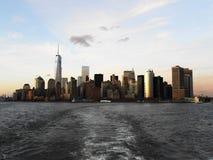 Sikter av manhattan från brooklyn Fotografering för Bildbyråer