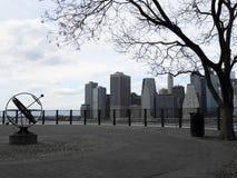 Sikter av manhattan från brooklyn Arkivbilder