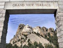 Sikter av Mt Rushmore Arkivfoto