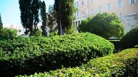Sikter av parlamentet i Aten arkivfilmer