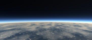 Sikter av planeten från utrymme Royaltyfria Foton