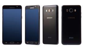Sikter av smartphonen för Samsung galax J7 Fotografering för Bildbyråer