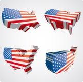 sikter för 3d fyra USA Arkivfoton