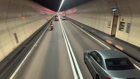 Sikter för gångtunneltrans.stad lager videofilmer
