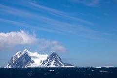 Sikter från den Lemaire kanalen, Antarktis Fotografering för Bildbyråer