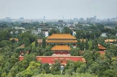 Sikter från Jingshan parkerar, Peking Kina Royaltyfria Foton