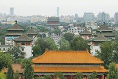 Sikter från Jingshan parkerar, Peking Kina Royaltyfri Foto