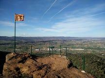 Sikter från Montblanc i Catalonia Royaltyfria Bilder
