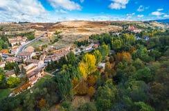 Sikter från slottalcazaren, Segovia, Spanien fotografering för bildbyråer