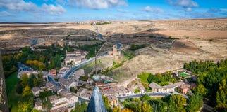 Sikter från slottalcazaren, Segovia, Spanien arkivbilder
