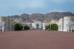 Sikter och detaljer av Royal Palace av muscaen för Oman sultan n Arkivfoton