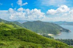Sikter och natur för Hong Kong slinga härliga arkivbild