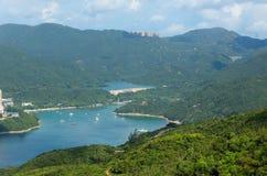 Sikter och natur för Hong Kong slinga härliga royaltyfri bild