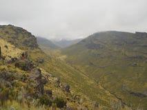 Sikter på den Mackinders dalen, Mount Kenya Fotografering för Bildbyråer