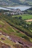 Sikter till det Conwy slottet Arkivbild