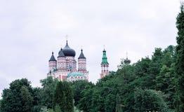 Siktkyrka i Ukraina, Kiev kyrklig kupol Royaltyfria Bilder