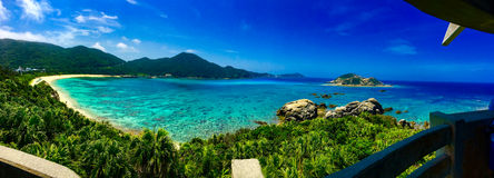 SiktsAharen strand i okinawa Royaltyfri Fotografi