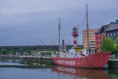 Siktsantwerp skeppsdocka Belgien royaltyfria foton