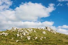Siktsbygd i toppiga bergskedjan Carape, Uruguay Fotografering för Bildbyråer