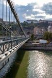 Siktsdetaljer av Liberty Bridge-Budapest arkivbilder