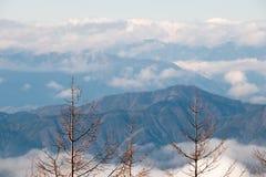Siktsform Mount Fuji Arkivbilder