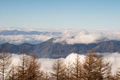 Siktsform Mount Fuji Royaltyfri Foto