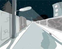 Siktsgata till natten och stjärnan Fotografering för Bildbyråer