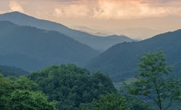 SiktslandskapGreat Smoky Mountains nationalpark royaltyfri bild