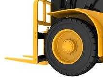 Siktsnärbild på hjullastlastbilen Royaltyfria Foton