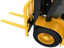Siktsnärbild på hjullastlastbilen Royaltyfria Bilder