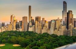 Siktsnolla-Central Park som är södra med horisont royaltyfria foton