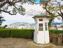 Siktspunkt av den Nagasaki staden från Gloverträdgård Arkivfoton