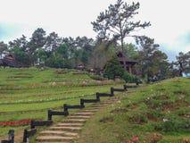 Siktspunkt Huai Nam Dang National parkerar, Chiang Mai, Thailand Arkivfoto