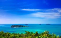 Siktspunkt Koh Chang Island, Thailand Arkivbilder