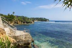 Siktspunkt på den Ceningan ön Royaltyfri Foto