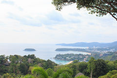 Siktspunkt på den Phuket fjärden royaltyfria foton