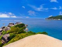 Siktspunkt på den similan ön Arkivfoton