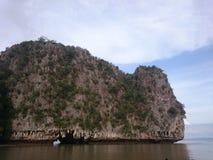 Siktspunkt på varma och klara azurt havvatten för Similan ö, Phuket, Thailand royaltyfri foto