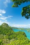 Siktspunkt, Wua Talab ö, Ang Thong National Marine Park, Ko Royaltyfria Bilder