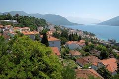 Siktsstad Herceg Novi, Montenegro Arkivbild