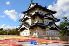 Siktsstaden fr?n Kawaguchiko parkerar royaltyfri foto