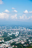 Siktsstadslandskap - Chiang Mai, Thailand Arkivfoto