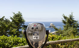 Siktsupphittare på den Oregon kusten Royaltyfria Foton