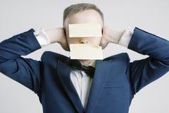 Silêncio e conceitos e ideias dos segredos Retrato de Bu caucasianos Fotos de Stock