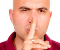 Silêncio por favor foto de stock