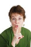 Silêncio por favor Fotografia de Stock