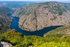Sil Canyon Ca�on del Sil, Ribeira Sacra. Spain. stock image